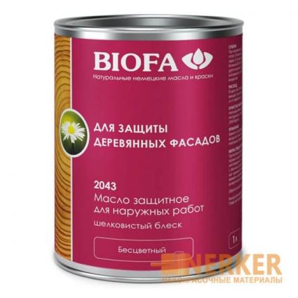 2043 Масло защитное для наружных работ с антисептиком Biofa (Биофа)