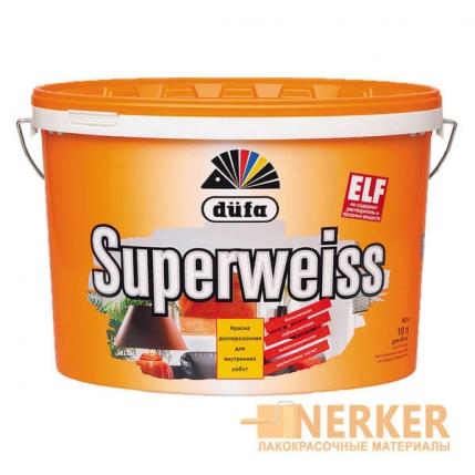 Водно-дисперсионная супербелая краска Dufa Superweiss (Супервайс)