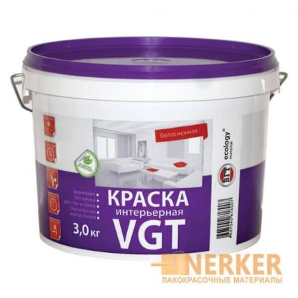 Краска акриловая для стен ВДАК 2180 «Белоснежная» VGT (ВГТ)