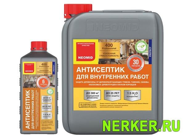 Антисептик для внутренних работ Неомид 400 (Neomid)