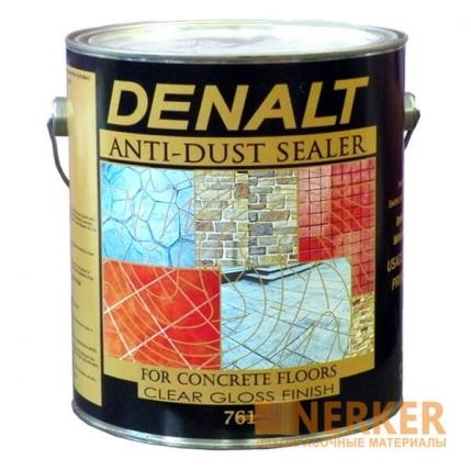 Лак для бетона и камня с мокрым эффектом Anti-Dust Sealer Denalt