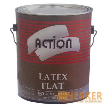 Белая матовая краска для стен и потолков Denalt Action Latex Flat
