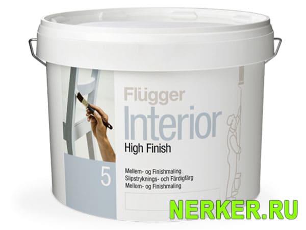Flugger Interior High Finish 5 акриловая краска – грунт