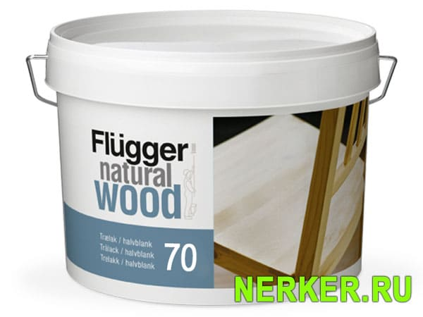 Flugger Natural Wood Lacquer 70 Лак для мебели (0,75л)