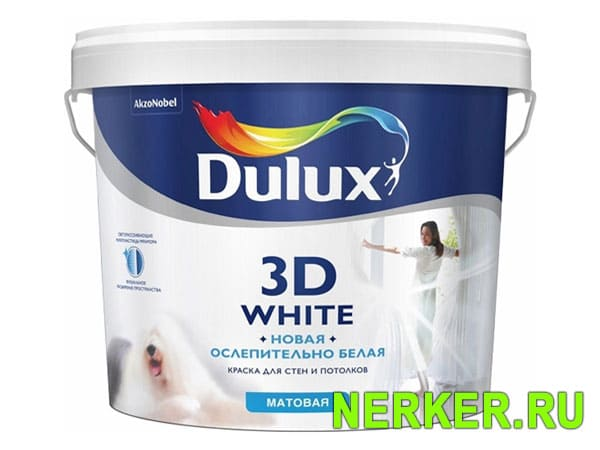 Dulux 3D White краска водно-дисперсионная бархатистая